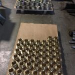 cnc turning alubronze machined parts on pallet