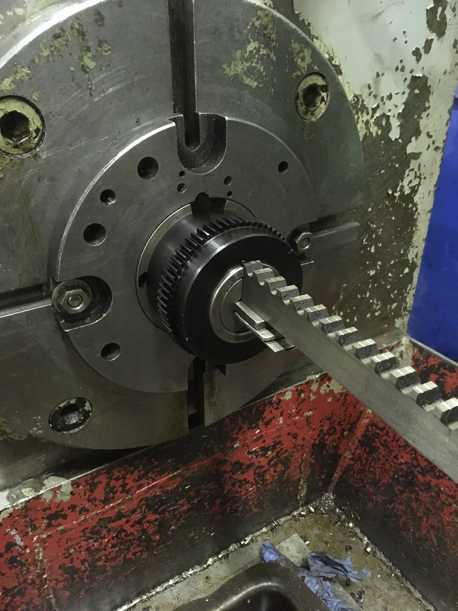 broaching key way