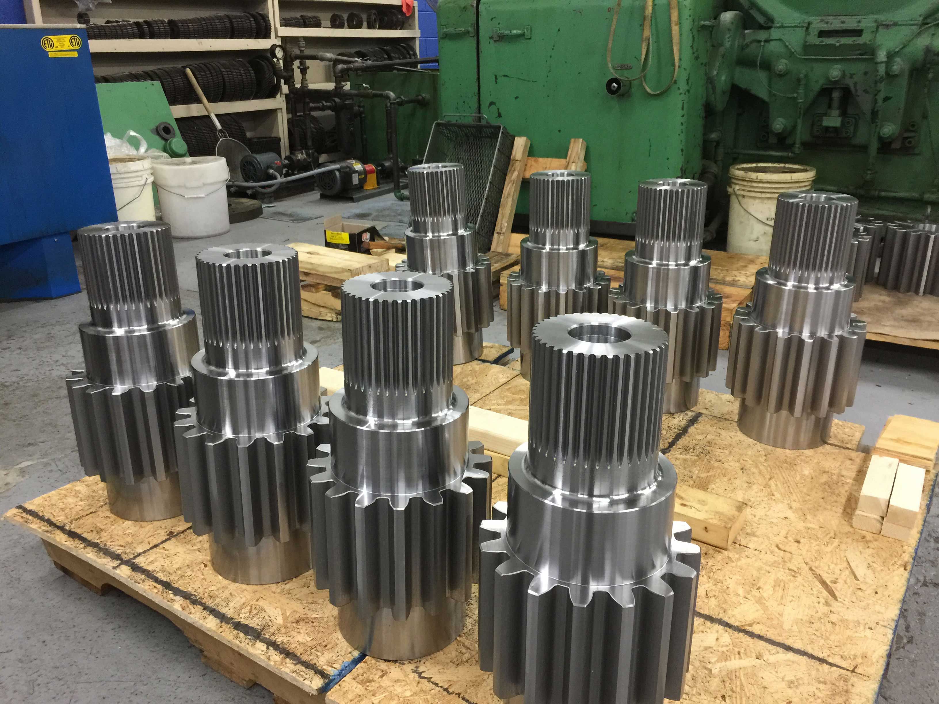splined gear shaft